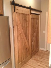 HIS & HER custom pantry sliding barn door. Awesome