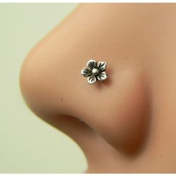 Nose Studnose Jewelry Flower Nose Ring Silver Nose Ringsterling