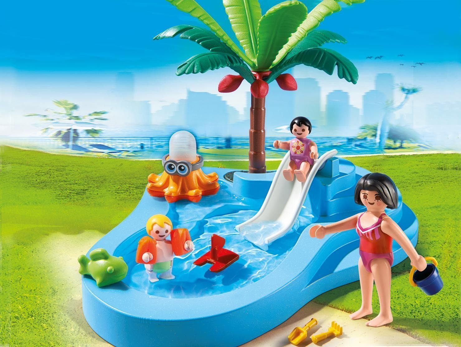 Amazon Piscina Playmobil Piscina Para Niños Con Bebé 66730 Amazon Es