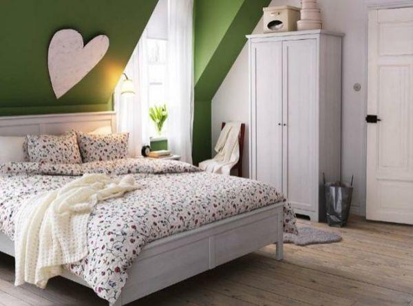Dachschräge - ganze Wand streichen Wenn Sie mit einer markanten - dekoration farbe fur dachschragen