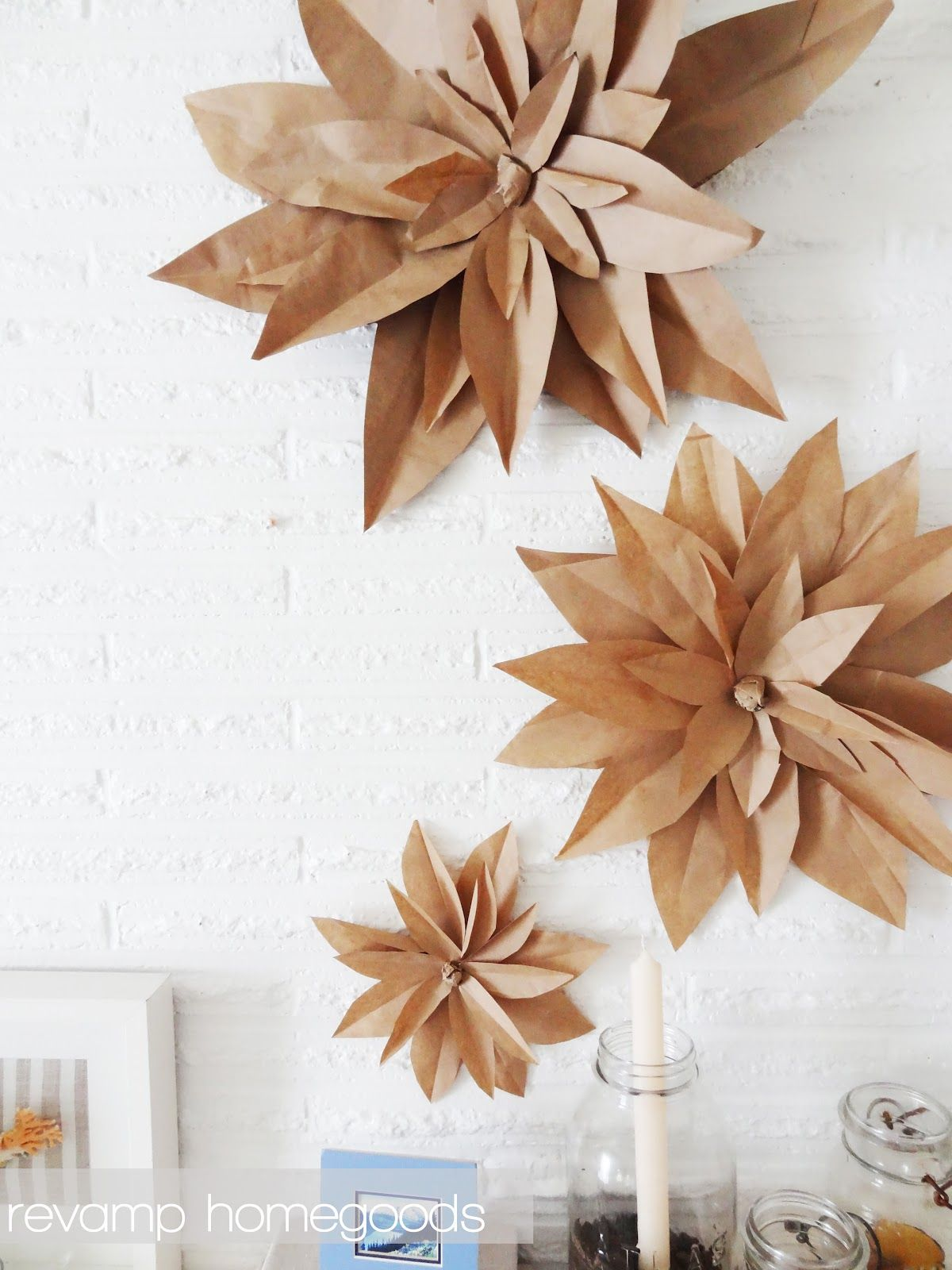Decoration Nice Brown Paper Bag Flowers Diy Party Decorations Nice For