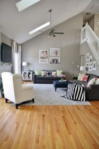 dark bamboo flooring family room gray walls -   ...