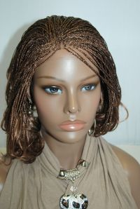 Fully hand braided lace front wig - Micro Braids-Color 27 ...