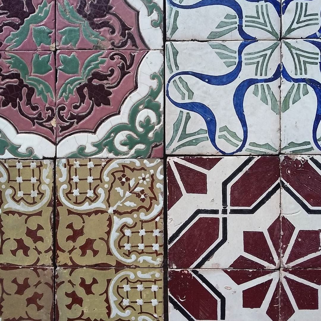 Piastrelle Napoletane Old Italian Tiles From Naples In Maiolica 20x20 Cms