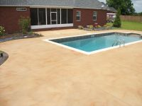 best colors for a cement pool deck - Google Search ...