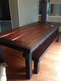 Table made out of old door. | For the Home | Pinterest ...