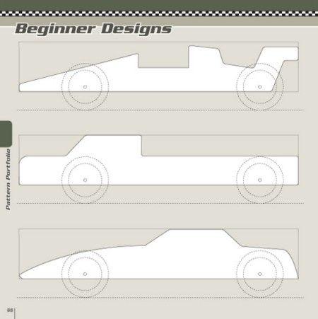Beginner Designs Patterns - Pinewood Derby Designs \ Patterns - pinewood derby template