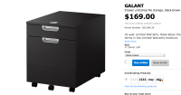Ikea Galant 2 Drawer File Cabinet | New Office | Pinterest ...