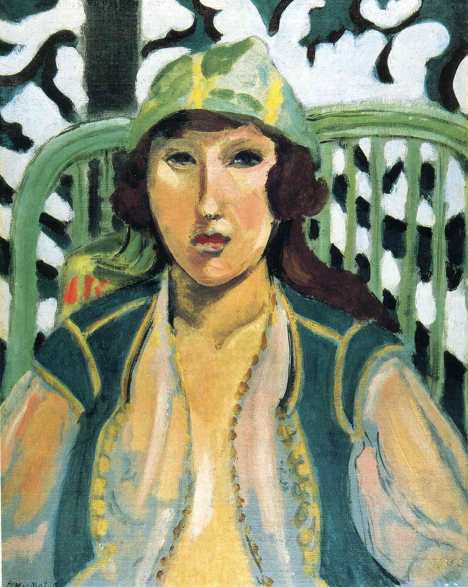 Fauvismo Pintura Henri Matisse Woman With Oriental Dress Arte Henry