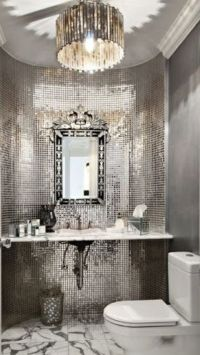 Luxury Silver Bathroom #Luxurydotcom