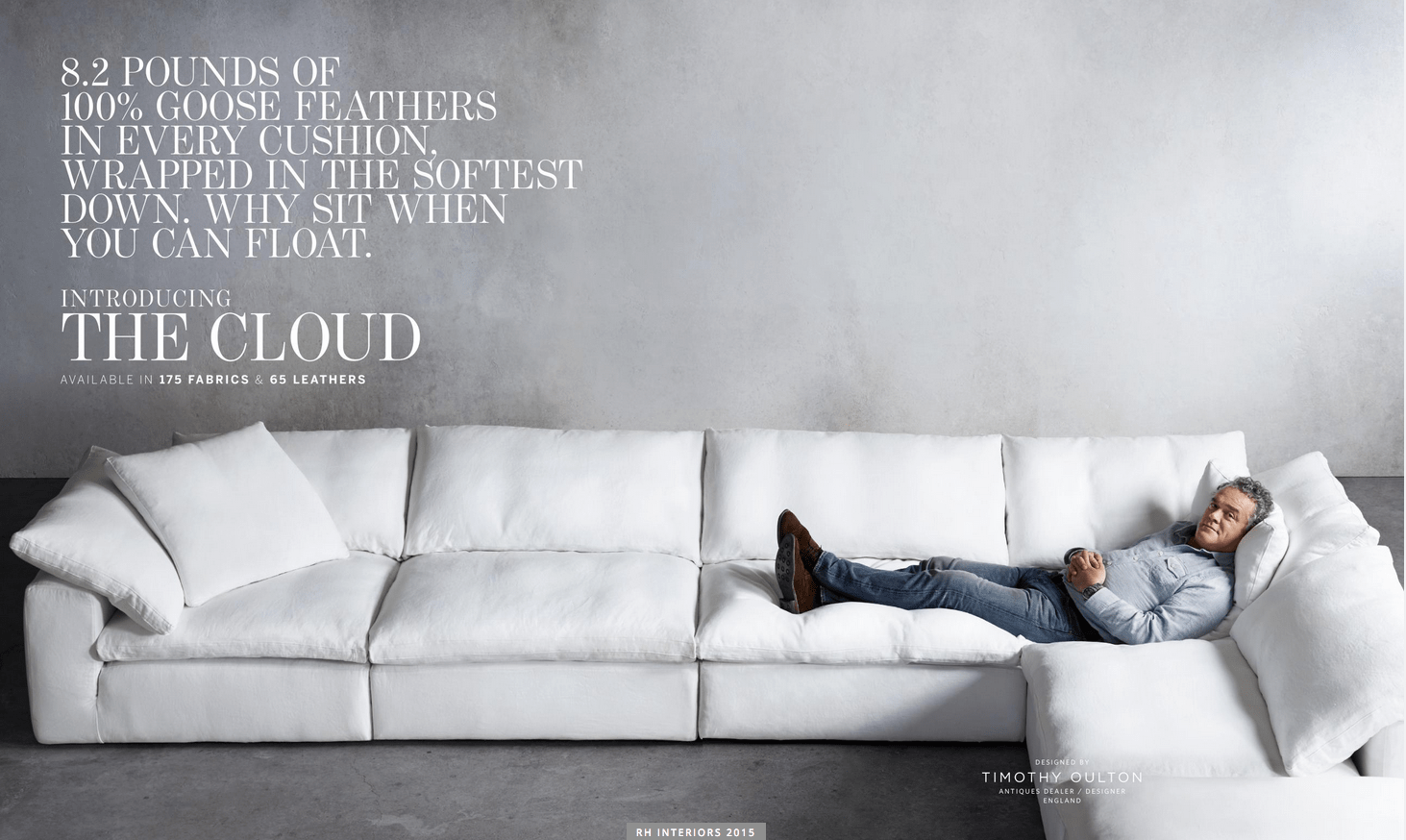Rh Cloud Sofa Restoration Hardware Sectional Sofa Pee Cloud Modular