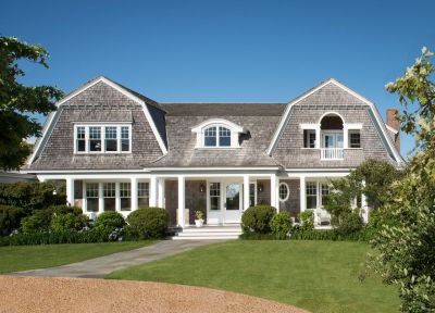 gorgeous home exterior. beautiful roof lines. classic new england shingled exterior. Donald ...