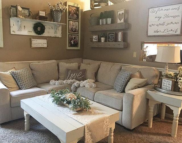 Farmhouse living room from @juliecwarnock; modern farmhouse - farmhouse living room furniture