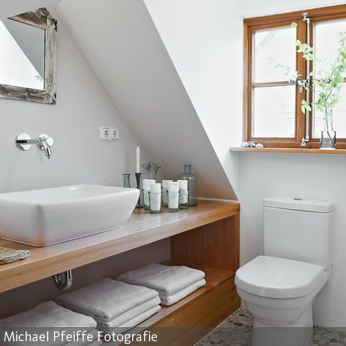 ... Badezimmer Im Landhausstil Lärchenholz, Tischler Und Ablage   Badezimmer  Ablage 80 Cm ...