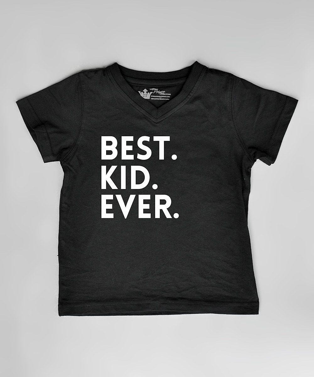 Littlest prince couture black best kid ever tee infant toddler boys