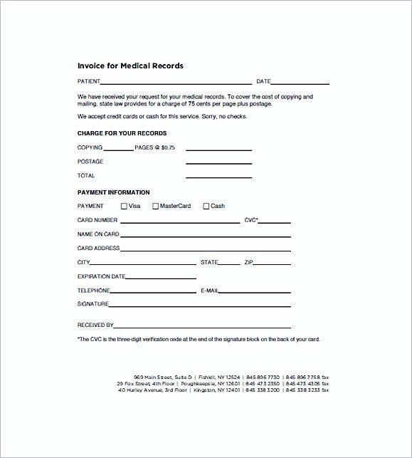 Medical Records Invoice templates , Medical Invoice Template , The - copy of invoice template