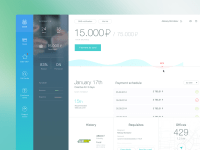 Bank dashboard | Web design - Landing Page | Pinterest ...