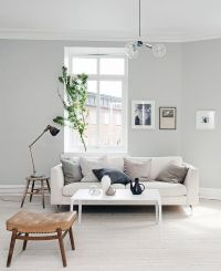 Light grey home with a mix of old and new - via ...