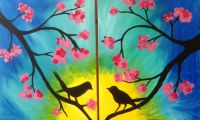 Birds Date Night. This painting would be great for a ...
