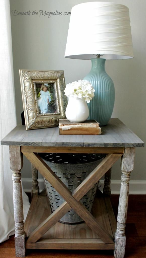 Angie Henry uploaded this image to u0027Ana White Rustic X tableu0027 See - lamp tables for living room