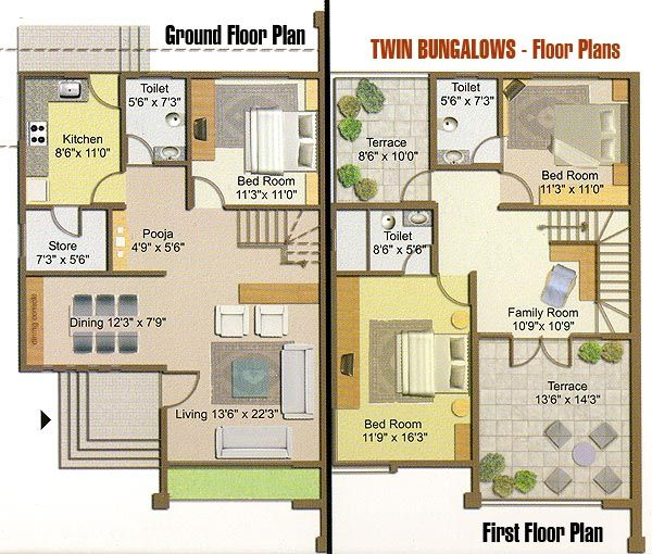 floor plans for bungalows - Google Search Houses Old \ New - bungalow floor plans
