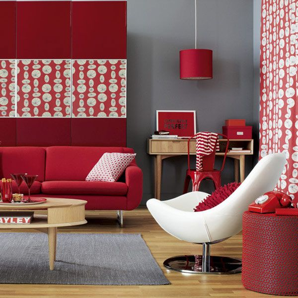 Red Interior Design Inspiration Living rooms, Red living rooms - red living room chair
