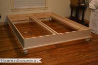 DIY Stained Wood Raised Platform Bed Frame  Part 1   Diy ...