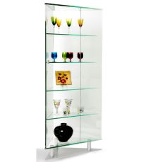 All Glass Triangle Curio - Chintaly Imports | For the Home ...