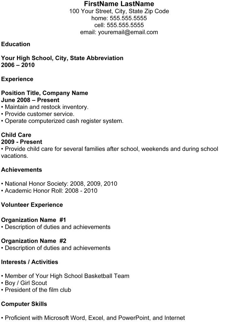 chronological resume format download