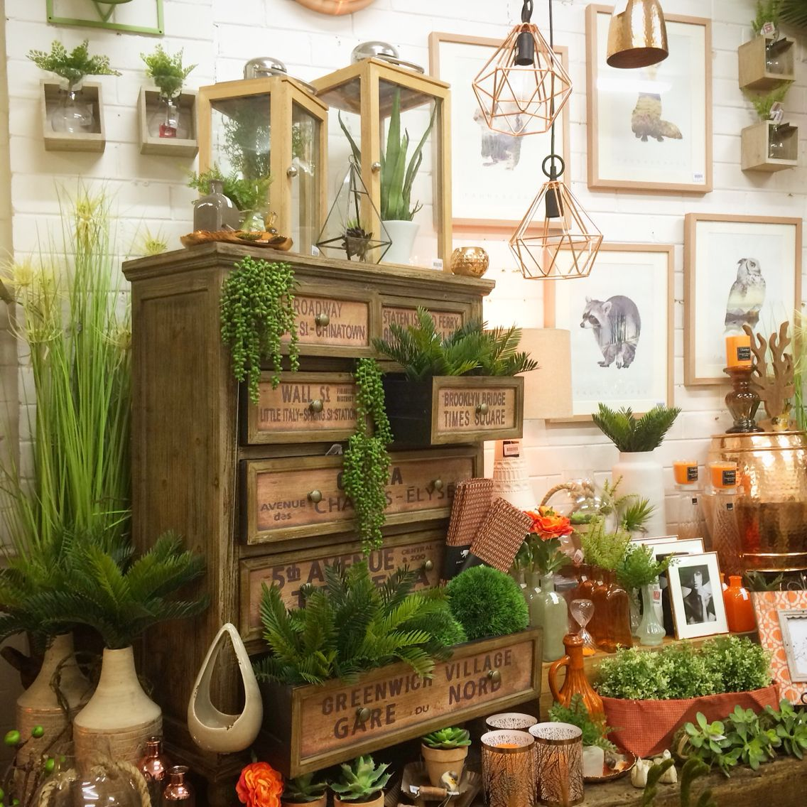 Best Home Decor Stores Orange And Copper Shop Display Home Decor Interiors