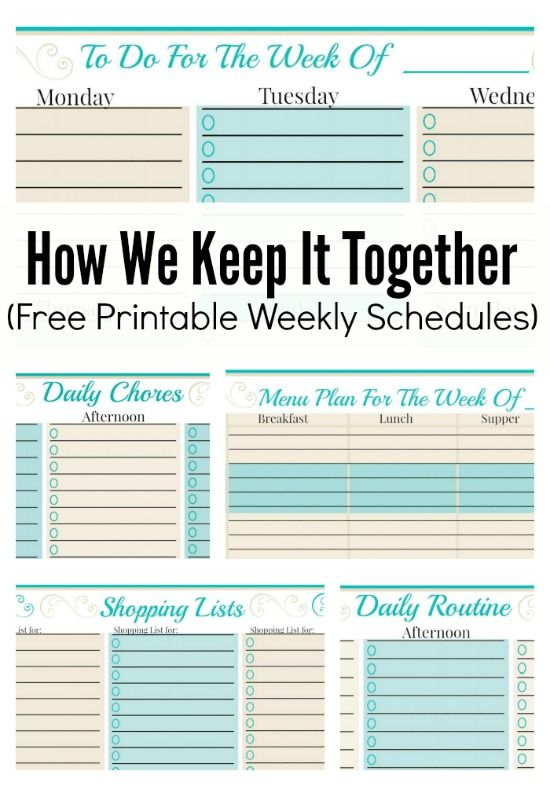 The MEGA List of FREE printable calendars and planners for 2016 - day to day planner template free