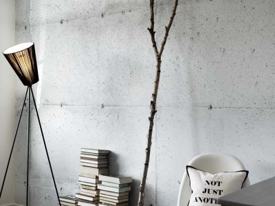 Industrial look is just a roll of wallpaper away-The Concrete Wall collection is designed by ...