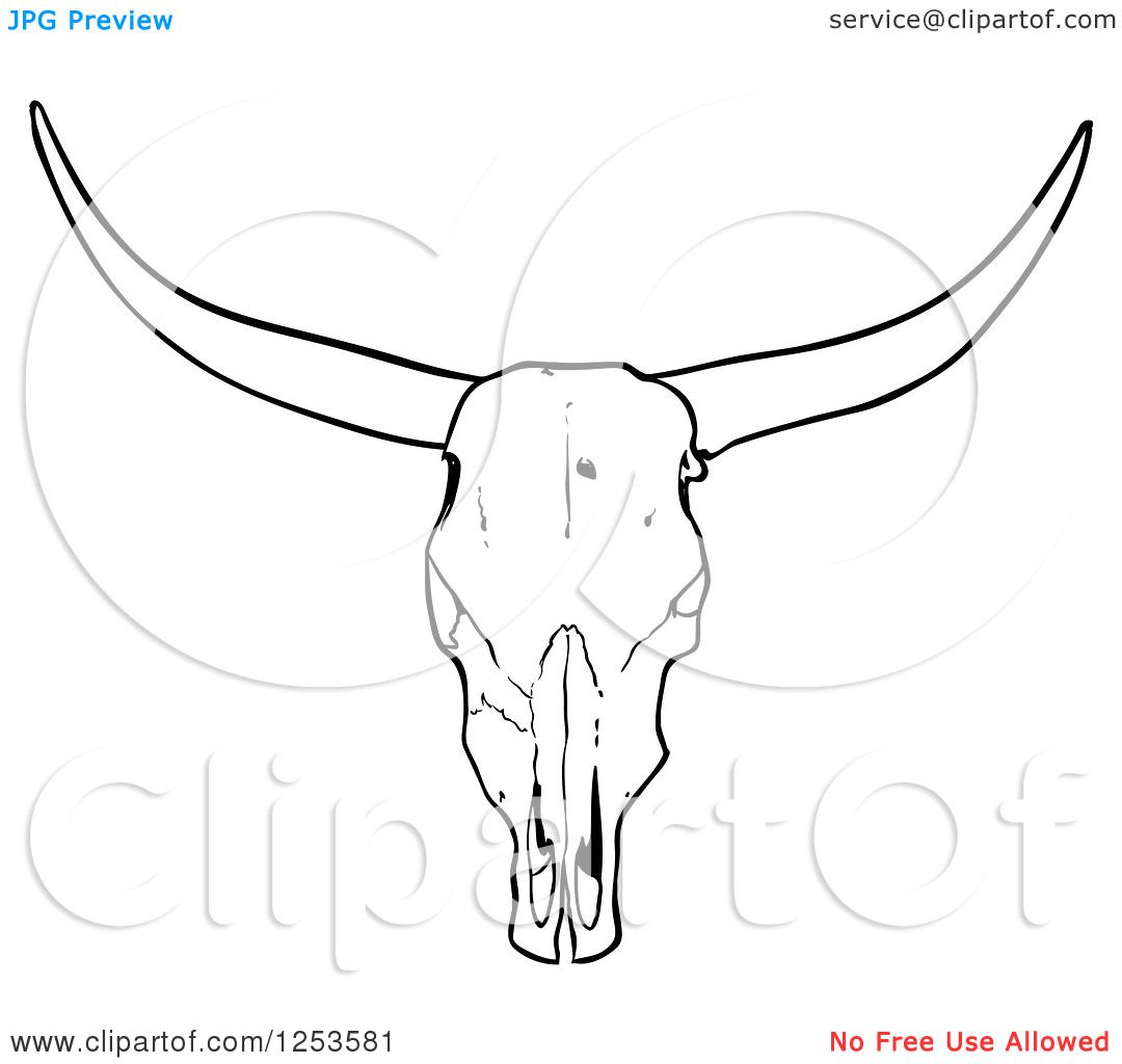 Steer Stencil Simple Cow Skull Tattoo Stencil P3 Icons Andpattern
