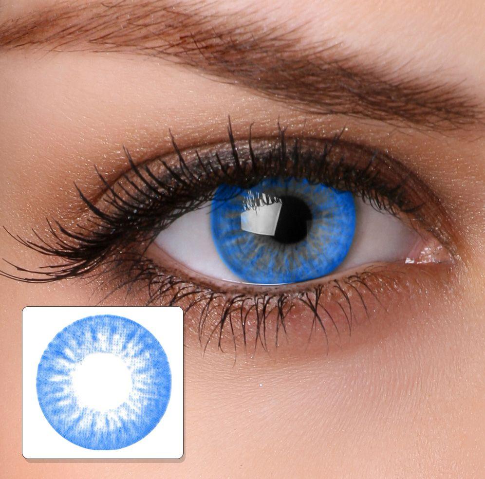 Colour contact lenses ha16 electric blue buy online hairspray ireland hair beauty