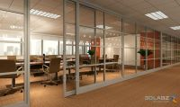 sliding glass door to conference room