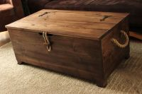 Rustic Wooden Chest,Trunk, Blanket Box ,Vintage Coffee ...