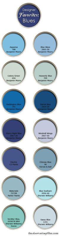 Blue Paint Colors: Designer's Favorite Picks | Blues ...