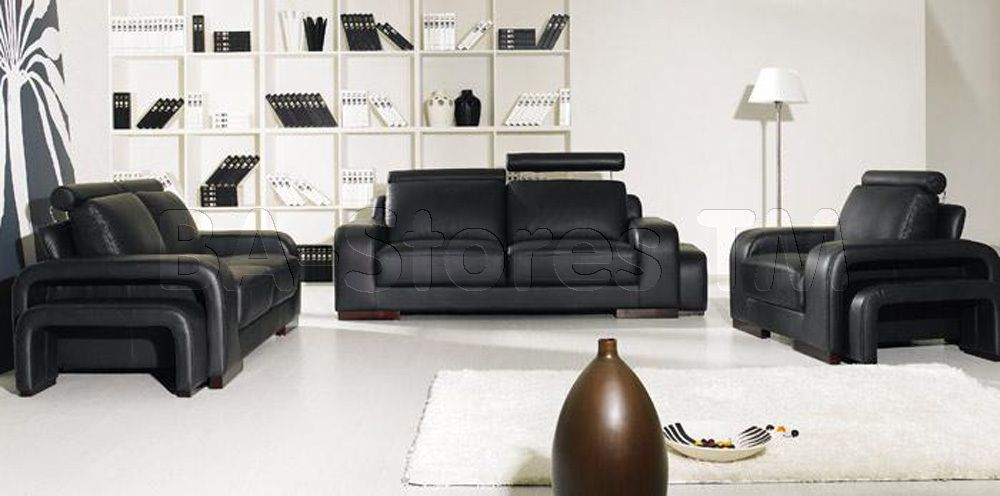 Furniture Design For Sofa Set Black Leather Sofa Set Designs For - black living room set