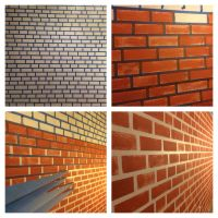 Make your fake brick wall just by using blue tape and ...
