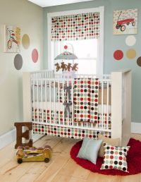 red and blue nursery | Glenna Jean Cooper Crib Bedding ...