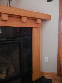 white oak fireplace mantel | Craftsman Style Fireplace ...