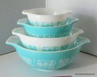 Vintage Pyrex Butterprint Cinderella Mixing Bowl Set-Pyrex ...