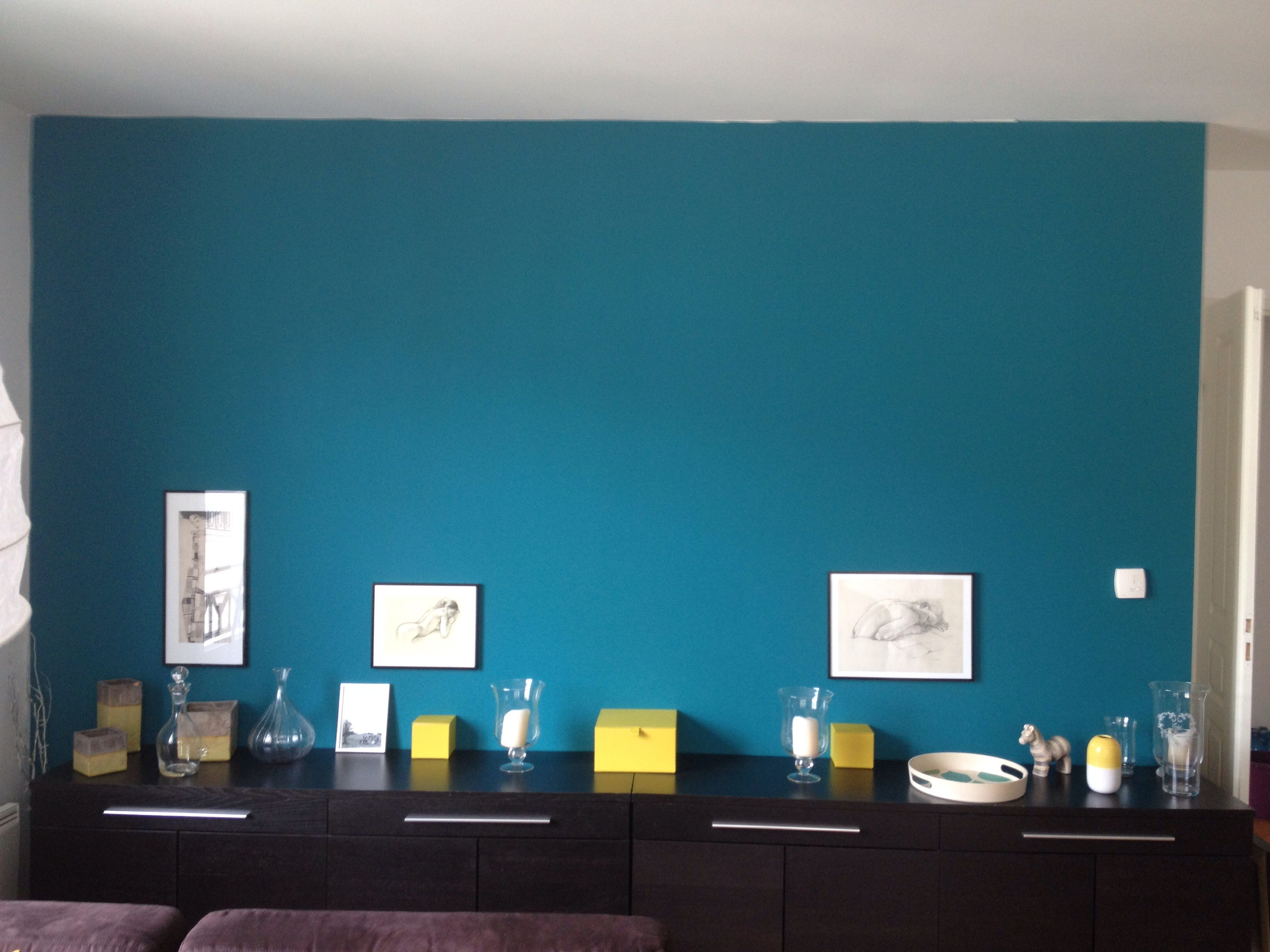 Mur Salon Bleu Canard Mur Salon Bleu Canard Couloir Pinterest Salon