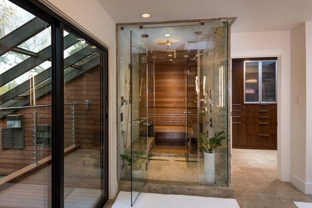 bad-sauna-planen-glaswande-ineinander-gebaut Badezimmer Ideen - badezimmer planen online design inspirations