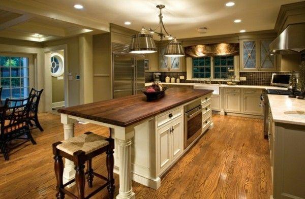 moderne küche mit kochinsel landhausküche gestalten - moderne kuche gestalten