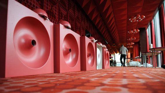 Die Kantine des Spiegel-Verlags in Hamburg wird abgebaut © dpa - designer kantine spiegel magazin