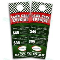 Lawn Care Door Hanger Design, eye catching Landscaping ...