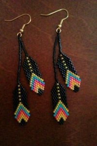 Beaded Feather Earrings. #beadwork via Etsy. #beadwork by ...