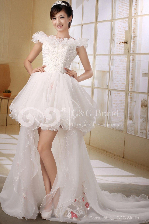 short tulle wedding dress Princess cut wedding dresses