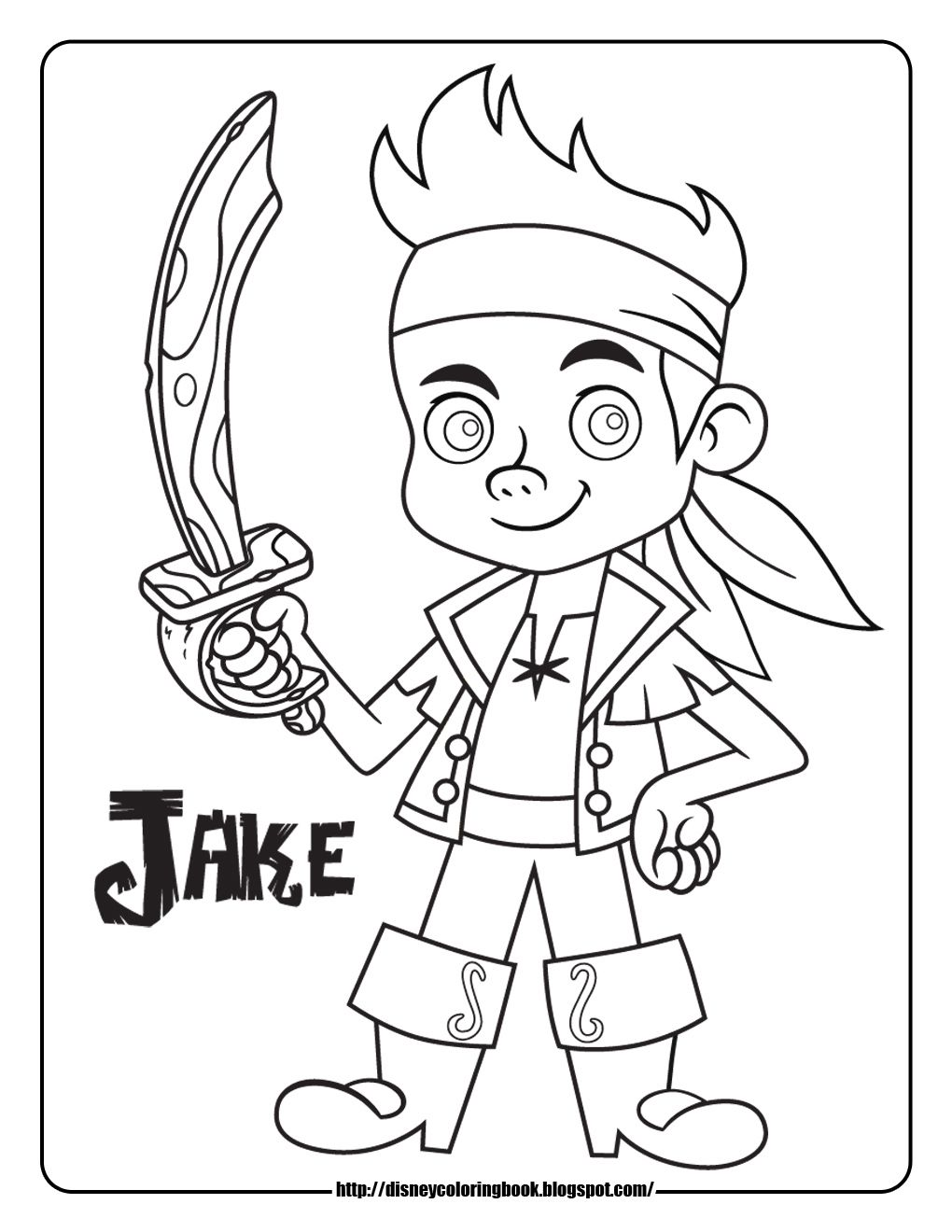 Jake and the never land pirates coloring picture coloring pages pinterest birthdays pirate birthday and birthday party ideas